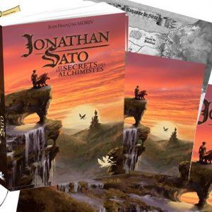Pack 3 Jonathan Sato Tome 1 (Livre, marque pages, 3 cartes postales et Poster)